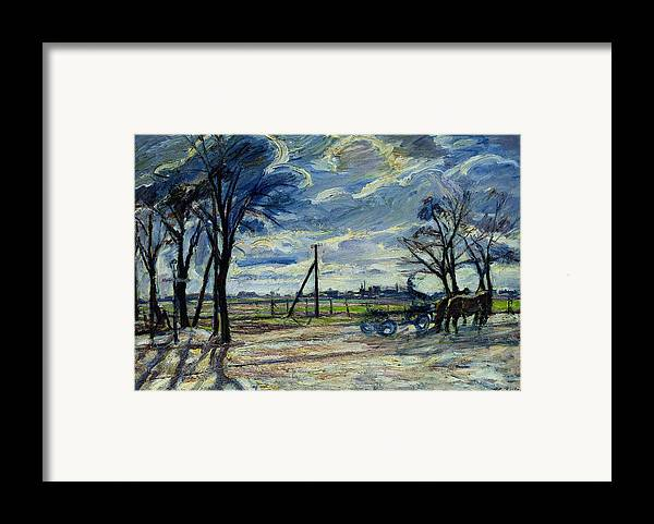 Suburban Framed Print featuring the photograph Suburban Landscape In Spring by Waldemar Rosler