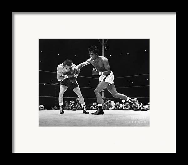 1957 Framed Print featuring the photograph Sugar Ray Robinson by Granger