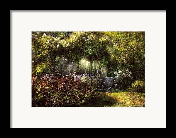 Savad Framed Print featuring the photograph Summer - Landscape - Eve's Garden by Mike Savad