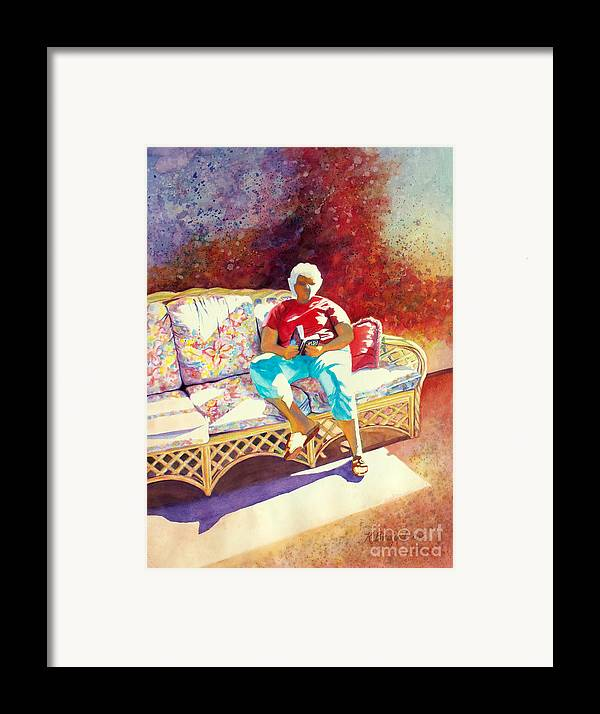 Paintings Framed Print featuring the painting Sunny Retreat 3 by Kathy Braud