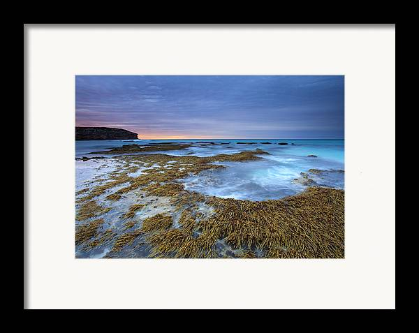 Pennington Bay Framed Print featuring the photograph Sunrise Beneath The Storm by Mike Dawson