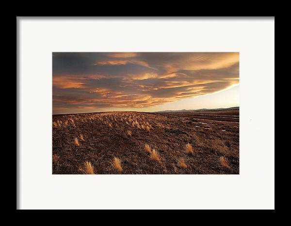 Mixed Media. Mixed Media Sunset Photography. Mixed Media Colorado Sunset Photography. Colorado. Colorad Sunset Photography. Sunset. Sunrise. Landscapes. Mountain Photography. Fort Collins Colorado. Fort Collins Colorado Photography. Framed Print featuring the photograph Sunset On The Ridge by James Steele