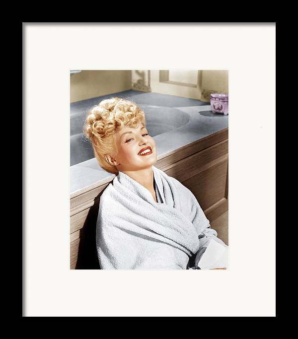 1940s Portraits Framed Print featuring the photograph Sweet Rosie Ogrady, Betty Grable, 1943 by Everett