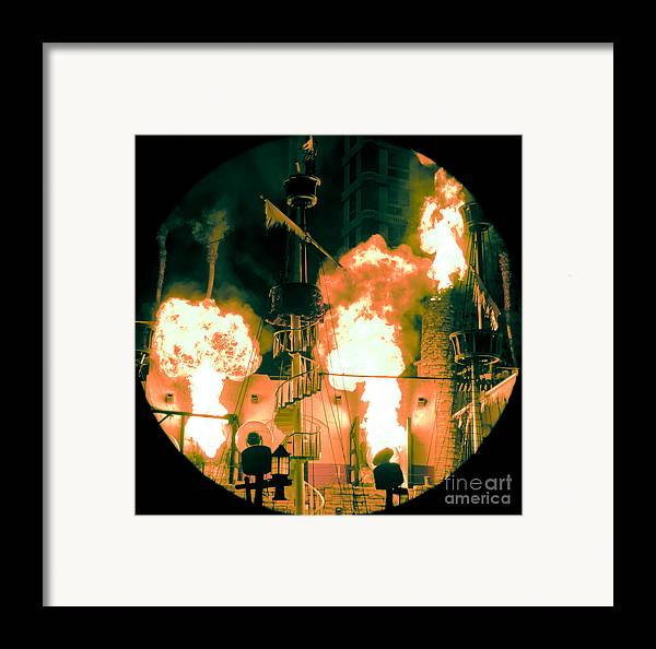 Las Vegas Framed Print featuring the photograph Target In Flames by Andy Smy
