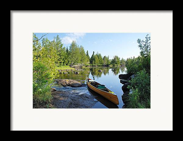 Boundary Waters Canoe Area Wilderness Framed Print featuring the photograph Temperance River Portage by Larry Ricker