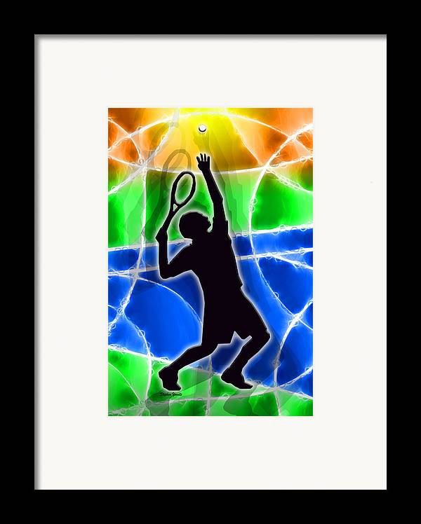 Tennis Framed Print featuring the digital art Tennis by Stephen Younts