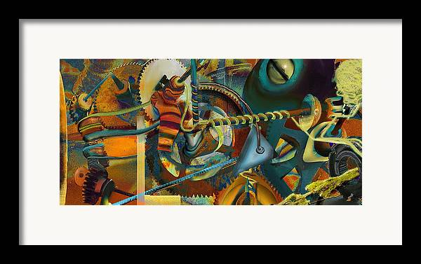 Science Framed Print featuring the painting Tensile Test Of The Thread Of Patience by Anne Weirich