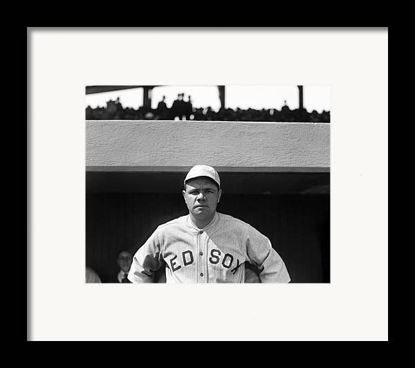 babe Ruth Framed Print featuring the photograph The Babe - Red Sox by International Images