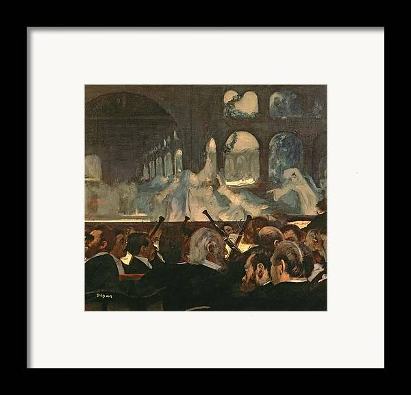 The Framed Print featuring the painting The Ballet Scene From Meyerbeer's Opera Robert Le Diable by Edgar Degas