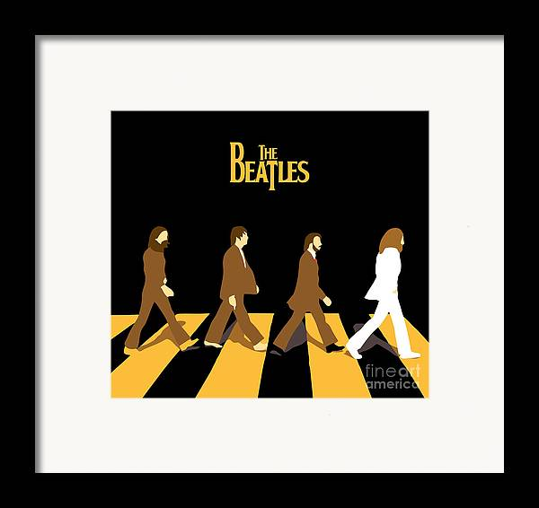 The Beatles Framed Print featuring the digital art The Beatles No.19 by Caio Caldas