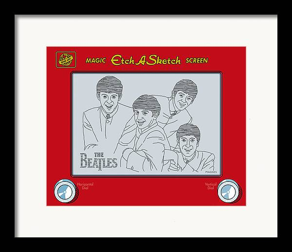 Beatles Framed Print featuring the digital art The Beatles by Ron Magnes