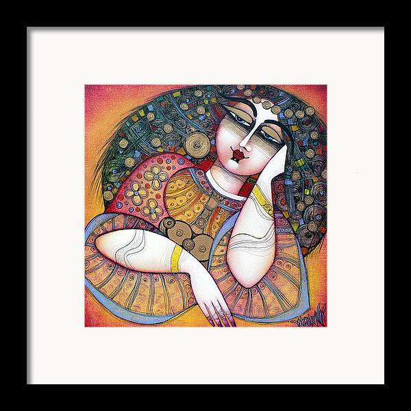 Art Framed Print featuring the painting The Beauty by Albena Vatcheva