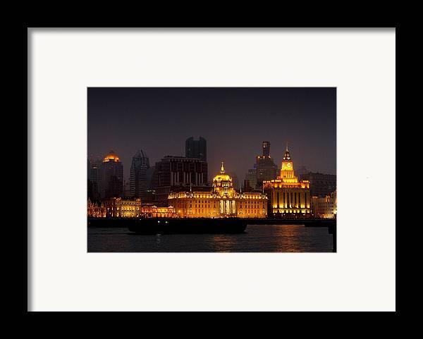 Bund Framed Print featuring the photograph The Bund - More Than Shanghai's Most Beautiful Landmark by Christine Till