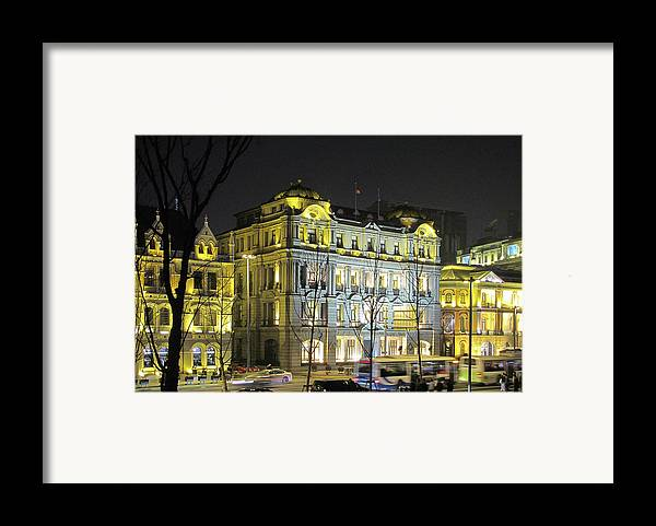 Bund Framed Print featuring the photograph The Bund - Shanghai's Signature Strip Of Historic Riverfront Architecture by Christine Till