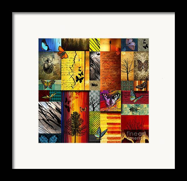 Alpine Framed Print featuring the painting The Butterfly Effect by Ramneek Narang