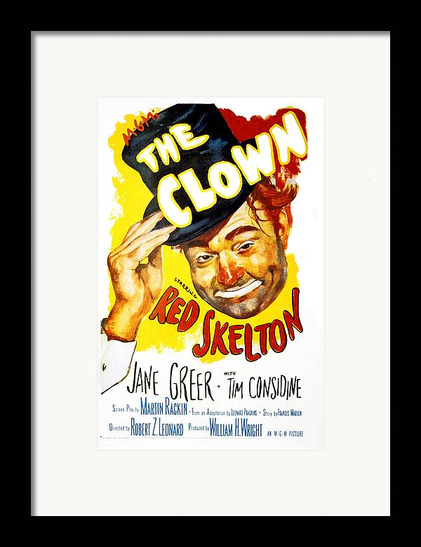 1950s Portraits Framed Print featuring the photograph The Clown, Red Skelton, 1953 by Everett