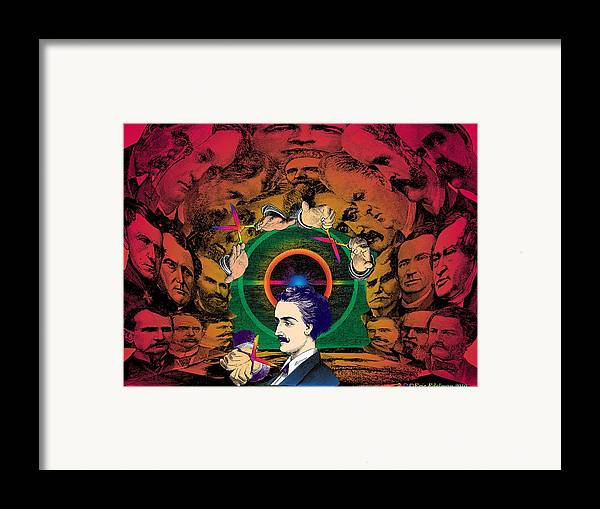 Cave Framed Print featuring the digital art The Human Cave by Eric Edelman