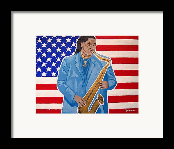 Clarence Clemons Framed Print featuring the painting The Late Great Clarence Clemons by Eamon Reilly
