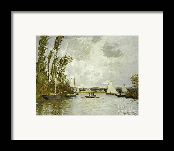 The Little Branch Of The Seine At Argenteuil (oil On Canvas) By Claude Monet (1840-1926) Framed Print featuring the painting The Little Branch Of The Seine At Argenteuil by Claude Monet