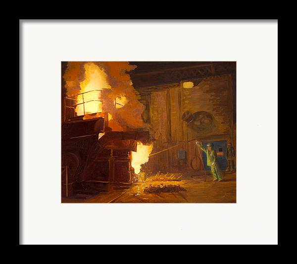 Melter Framed Print featuring the painting The Melter by Martha Ressler
