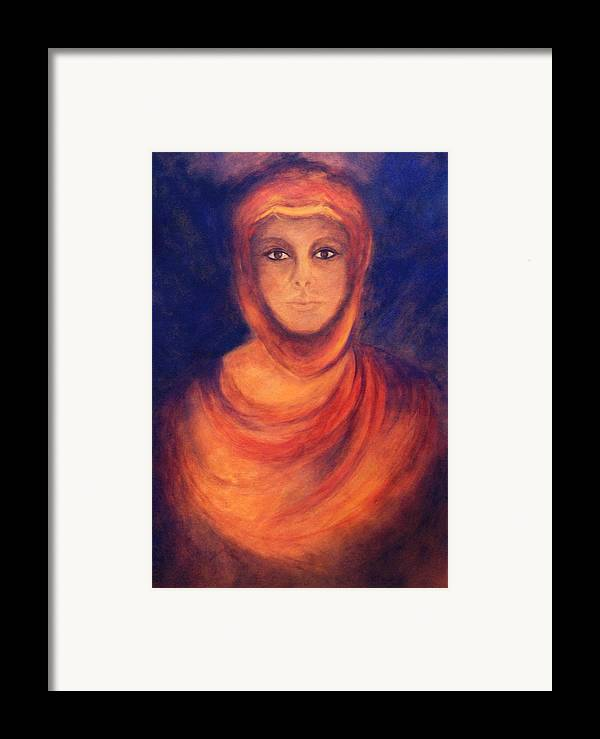 Woman Framed Print featuring the painting The Oracle by Marina Petro