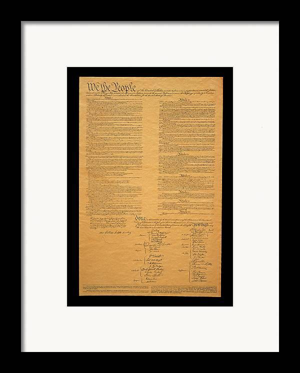 Us Constitution Framed Prints Us Constitution Framed Art