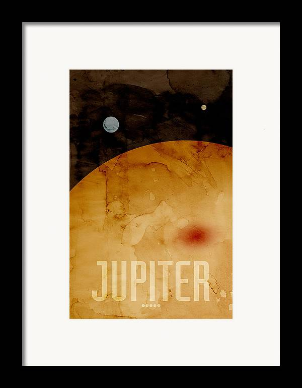 Jupiter Framed Print featuring the digital art The Planet Jupiter by Michael Tompsett