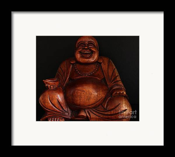 Laughing Framed Print featuring the photograph The Protector Of Wealth by Nancy Harrison