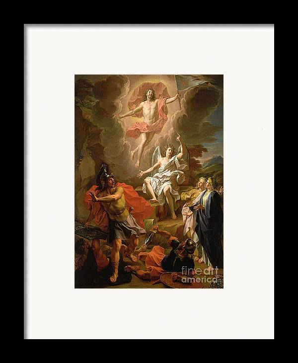 The Resurrection Of Christ Framed Print featuring the painting The Resurrection Of Christ by Noel Coypel