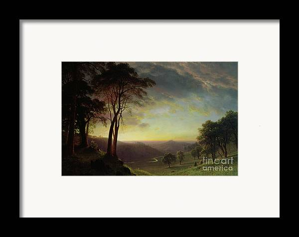 Albert Framed Print featuring the painting The Sacramento River Valley by Albert Bierstadt
