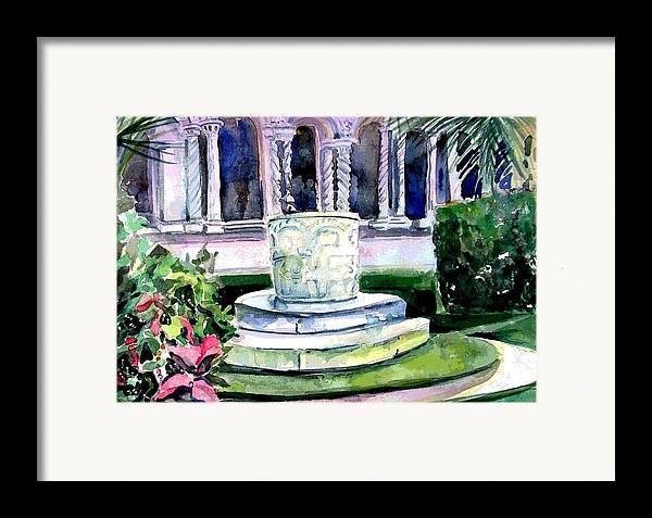 Jesus Framed Print featuring the painting The Samaritan Woman Well by Mindy Newman