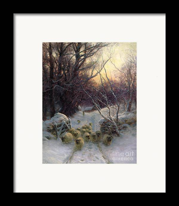 Winter Framed Print featuring the painting The Sun Had Closed The Winter Day by Joseph Farquharson