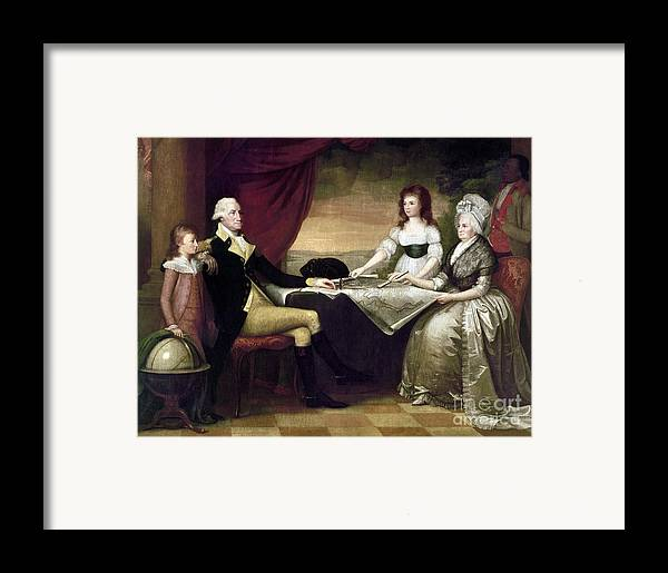1796 Framed Print featuring the photograph The Washington Family by Granger