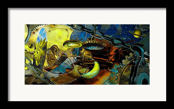 Science Framed Print featuring the painting The Wheelwork Of Antikythera by Anne Weirich