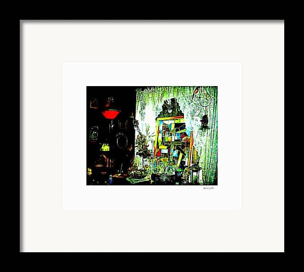 Life Framed Print featuring the mixed media The Window by YoMamaBird Rhonda