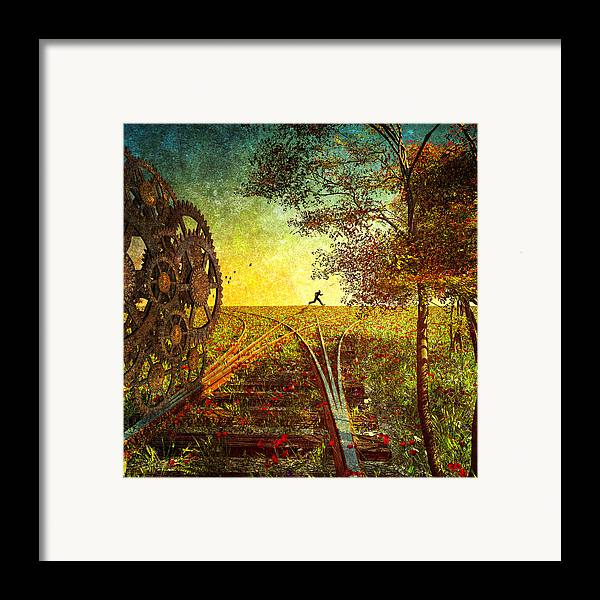 Trains Framed Print featuring the photograph This Is The Best Part Of The Trip by Bob Orsillo