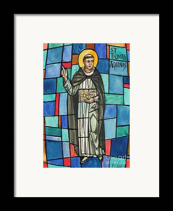 History Framed Print featuring the photograph Thomas Aquinas Italian Philosopher by Photo Researchers
