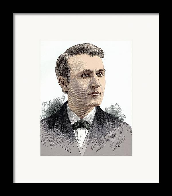 Thomas Alva Edison Framed Print featuring the photograph Thomas Edison, American Inventor by Sheila Terry