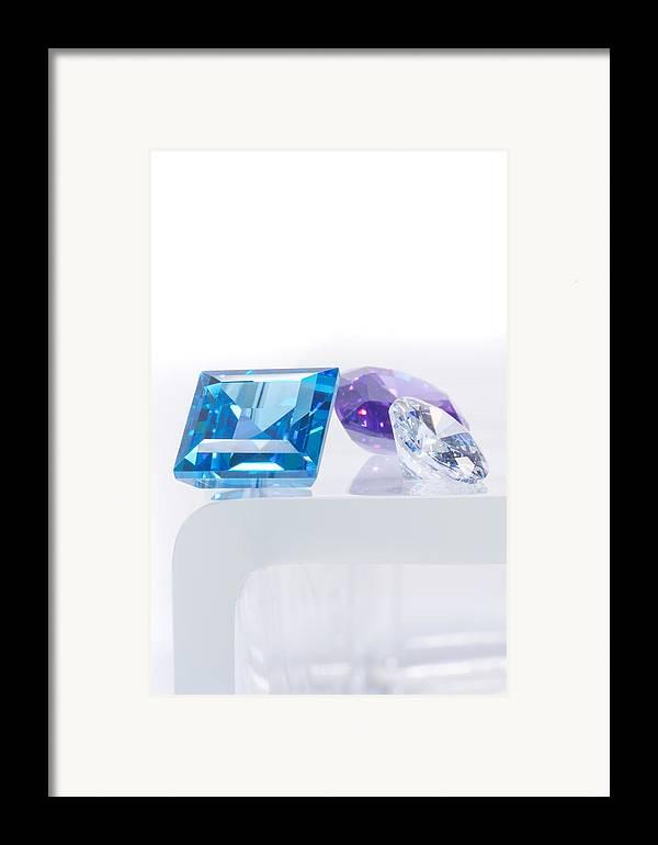 Allure Framed Print featuring the jewelry Three Jewel by Atiketta Sangasaeng