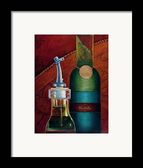 Olive Oil Framed Print featuring the painting Three Million Net by Shannon Grissom