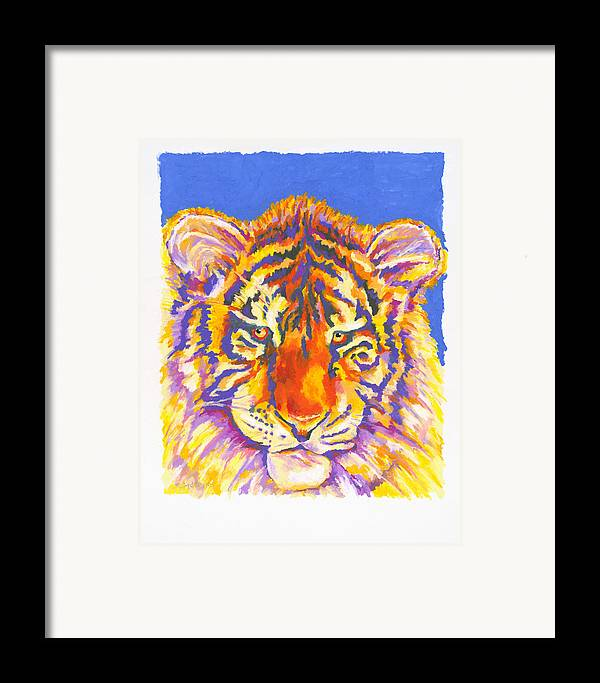 Tiger Framed Print featuring the painting Tiger by Stephen Anderson