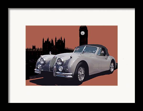 Jaguar Framed Print featuring the digital art Timeless by Richard Herron