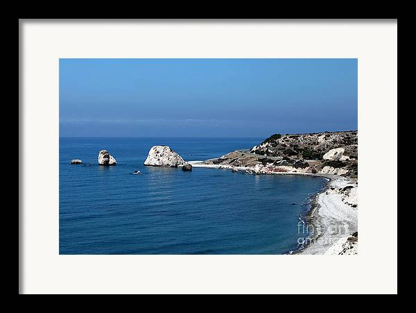 To Aphrodite's Rocks Framed Print featuring the photograph To Aphrodite's Rocks by John Rizzuto