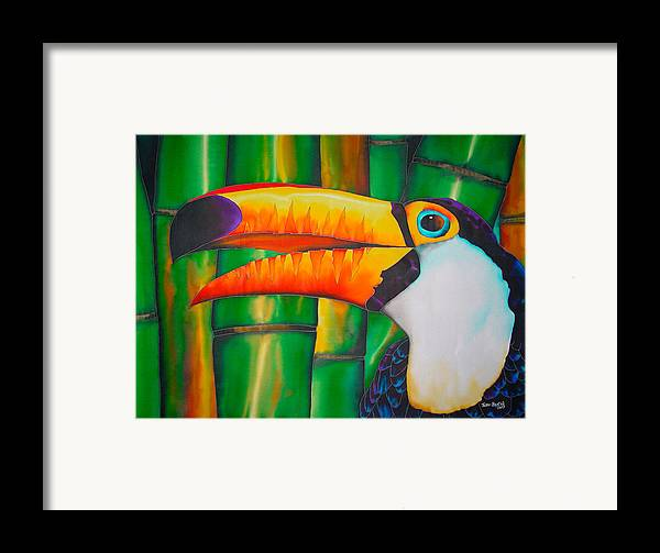 Toucan Painting Framed Print featuring the painting Toco Toucan by Daniel Jean-Baptiste