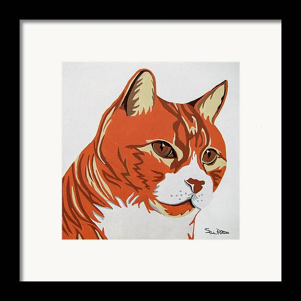 Cat Framed Print featuring the painting Tom Cat by Slade Roberts
