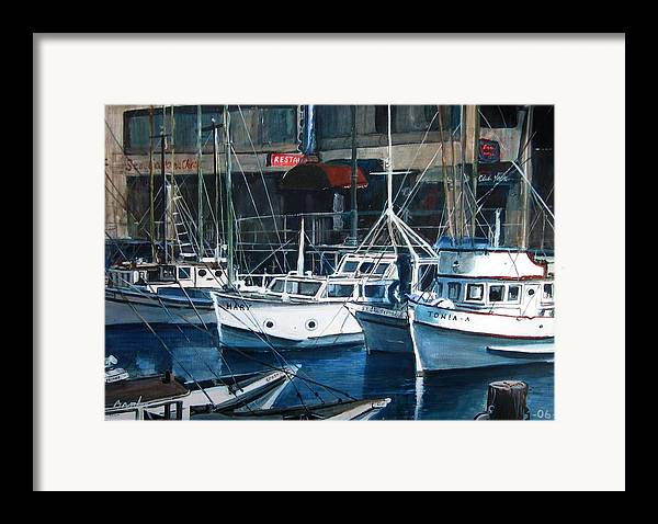 Seascape Framed Print featuring the painting Tonia by William Brody