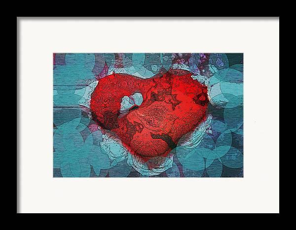 Abstract Art Framed Print featuring the digital art Tough Love by Linda Sannuti