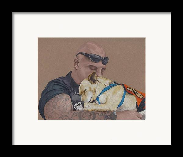 Tattoo Framed Print featuring the drawing Tough Love by Stacey Jasmin