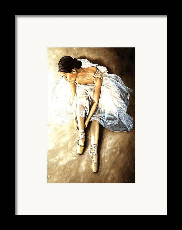 Ballet Framed Print featuring the painting Tranquil Preparation by Richard Young