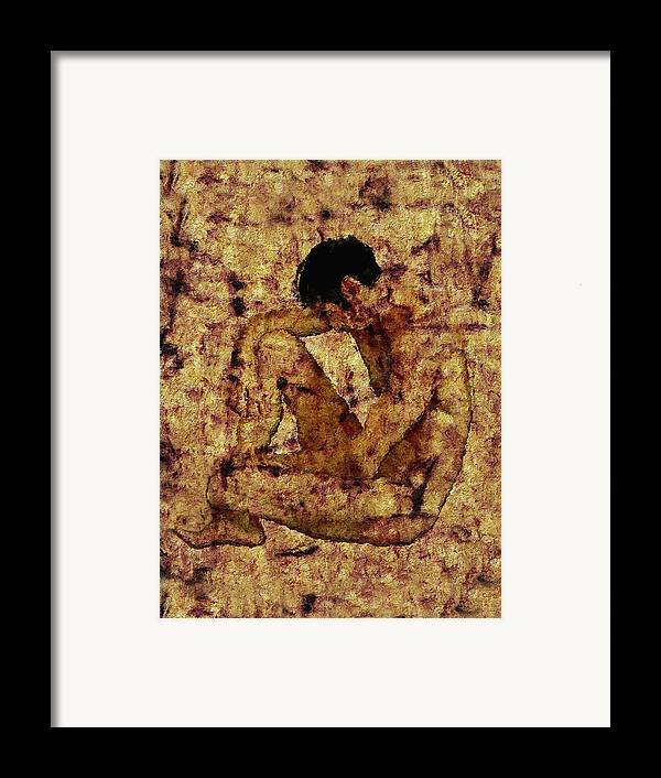 Nude Framed Print featuring the photograph Transition by Kurt Van Wagner
